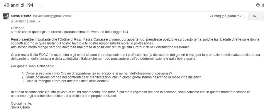 40 anni di 194 ordine di Pisa, Massa Carrara e Livorno